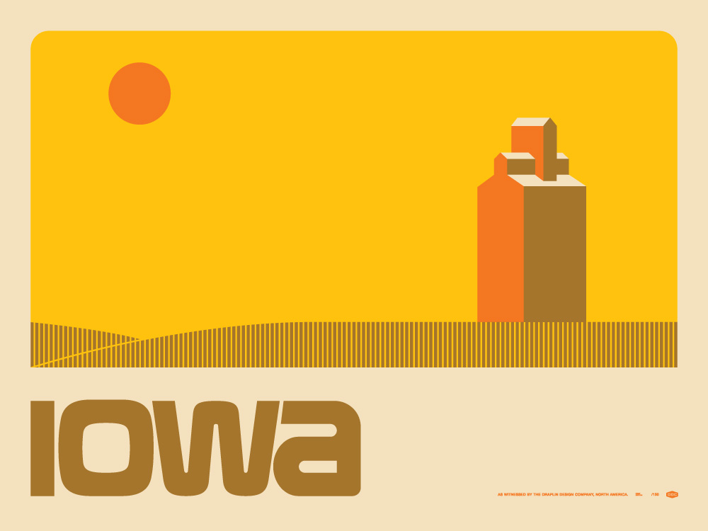 omg posters archive iowa art print by draplin design. Black Bedroom Furniture Sets. Home Design Ideas